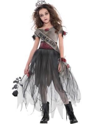 Childs Teen Girls Prombie Prom Queen Halloween Zombie Costume Horror Fancy Dress](Zombie Costume Teenage Girl)