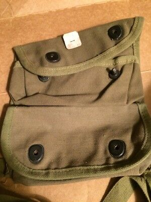WWII USMC GRENADE POUCH unissued With Cutter Tag! WW2 USGI marine Corps