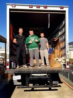 2 movers & truck $69 an hour or 3 movers & truck $89 an hr