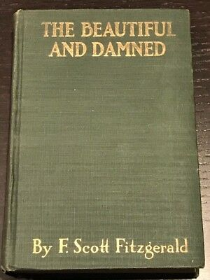 The Beautiful And Damned F Scott Fitzgerald 1922 First Edition Second Printing