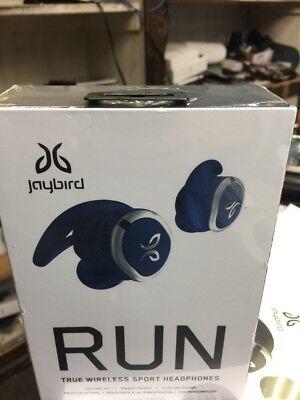 New Jaybird RUN True Wireless Sport Headphones for Running - Steel Blue