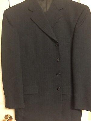 Vanetti Four Button Men's Suit 44R 36w Regular Four Button Blue New