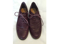Faux Leather Purple Brogues Size 6 - Atmosphere