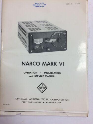 NARCO Mark VI Operation, Install. Service Manual & Units Chasis CN58-B Addendum
