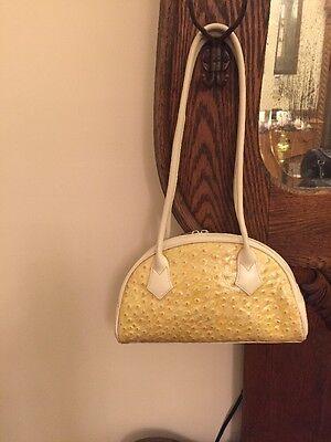 Lancaster Paris Womens Yellow Handbag