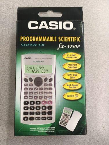 NEW Casio FX-3950P Programmable Scientific SUPER-FX Calculator 2-Line DOT-MATRIX