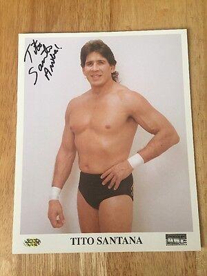 Tito Santana Ariba  Signed Autograph 8X10 Photo Wwf Wwe Nwa Wcw W  Hologram Coa
