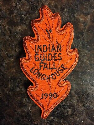 Vintage 1990 YMCA Indian Guides Fall Longhouse Patch - New