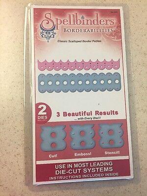 - Spellbinders Borderabilities Classic Scalloped Border Petites 2 Dies S4-239 NEW