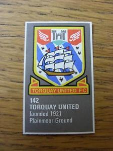 1971-1972-Bartholomew-Football-Map-Club-Badge-Cut-Out-142-Torquay-United