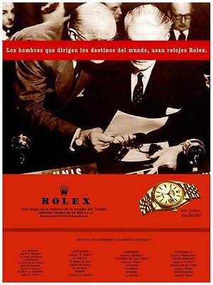 4330.Gold vintage Rolex ad.Political power men.POSTER.Red decor Home Office - Gold Rolex Replica
