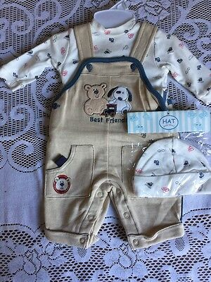 NWT Petite Best Friends Winter Outfit Size 0-3 Months