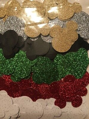 100 Mickey Mouse Head Punch Cut Outs Confetti handmade - Sparkle
