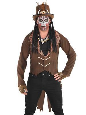 Mens Witch Doctor Fancy Dress Costume Tailcoat Jacket Halloween Voodoo - Witch Doctor Fancy Dress Kostüm