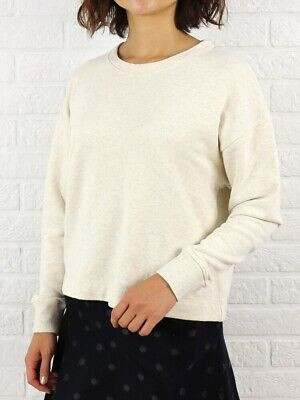 JAMES PERSE French Terry Long Sleeve Sweatshirt In Natural Size 1 Small WOK3341