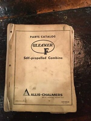 Allis Chalmers F Series Gleaner Combine Parts Catalog 1968 Form 9001308