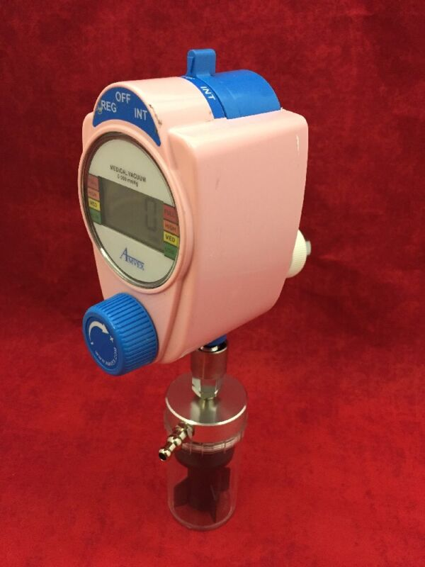 Amvex Vacuum Regulator 0-300 Mmhg Digital Pink W/trap Type # 4 See Listing