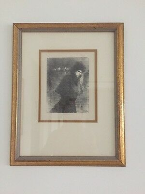 "THEODOPOLOUS STEINLIN - WOMAN WITH WINTER HAT - 10"" X 8"" SALE. WAS  $1800"
