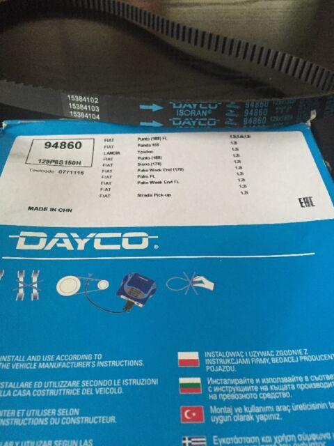 Dayco Timing Belt - 94860 - Fiat,Lancia