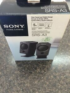 SONY SRS-A3 ACTIVE SPEAKER SYSTEM EXTERNAL PC SPEAKERS