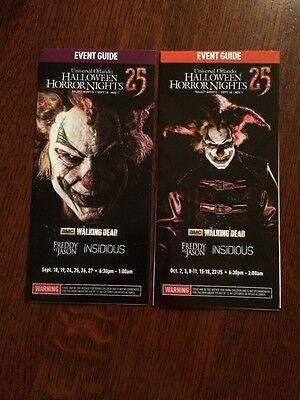 Halloween Horror Nights 2015 COMBO 2 HHN 25 Guide Maps Universal Studios Florida - Universal Studios Florida Halloween