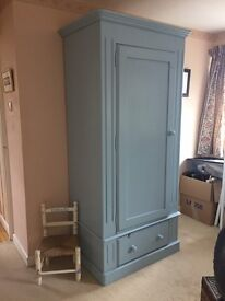 Solid pine single wardrobe very sturdy