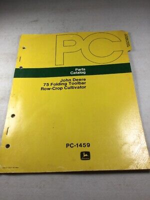 John Deere 75 Folding Toolbar Cultivator Parts Catalog Manual