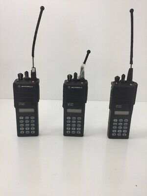 Lot Of 3 Motorola Mts2000 Model Iii Radio H01uch6pw1bn With Antenna
