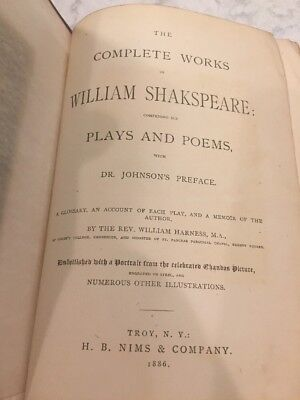 THE COMPLETE WORKS OF WILLIAM SHAKESPEARE Plays & Poems - 1886 Nims ILLUSTRATED