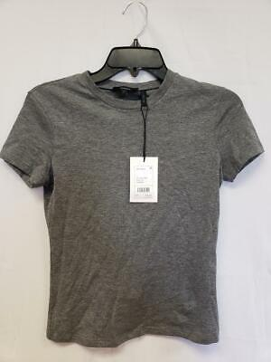 MSRP $75 Theory Womens Top Gray Size P