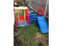 toddler swing and slide clumbing frame