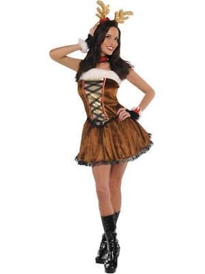 ★ Amscan Damen Rentier Miss Vixen Reindeer Kostüm S,M,L Weichnachts Tierenkostüm ()