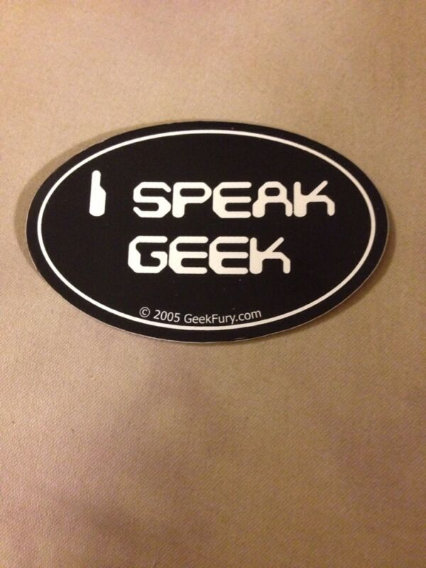I Speak Geek Bumper Sticker
