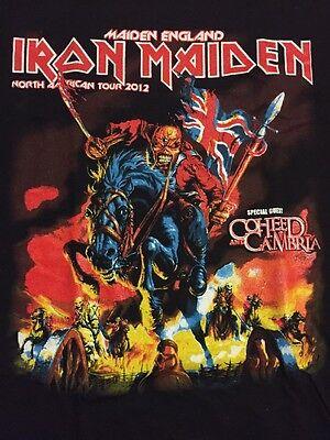 T Shirt Vintage Iron Maiden Tour 2012 XL NWOT Maiden England Coheed