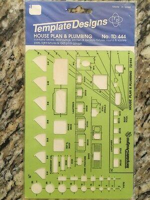 Template Designs No. TD444 House Plan & Plumbing Template