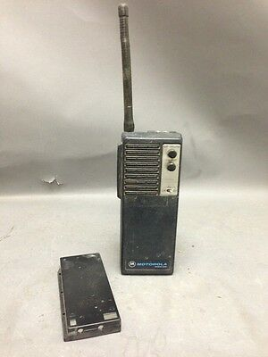 Motorola Handie-com Vhf Low Band Portable Handie Talkie Vintage