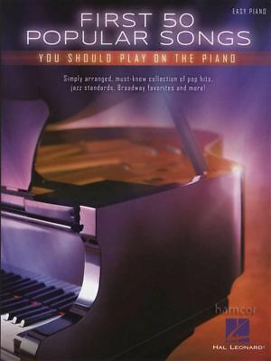 First 50 Popular Songs You Should Play on the Piano Easy Piano Sheet