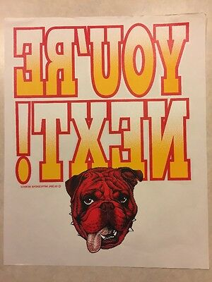 Vintage T-shirt Heat Transfer Youre Next Red Bulldog Head By Global Impression