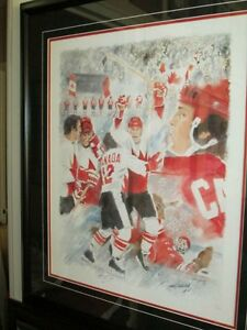 Team Canada 1972 Autographed and Framed Lithograph