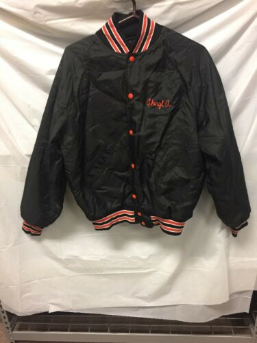 Купить High School Girls Softball Button Down Quilted Jacket Sz L Edwardsville Softball