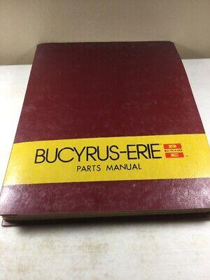 Bucyrus Erie 60xc Crane Parts Catalog Manual Original