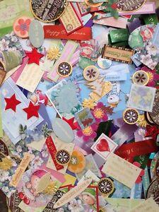 Great Joblot Of 40 Scrapbooking Craft Cardmaking Embellishments (Now Bigger Lot)