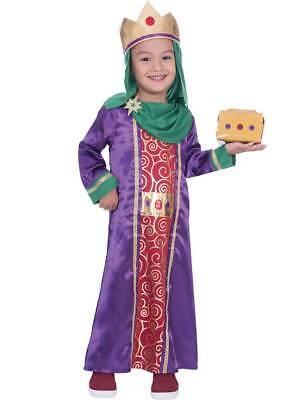 Kids Childs Boys King Wise Man Fancy Dress Costume Nativity Play Christmas Xmas (Wise Man Kids Costume)