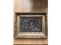 Antique bronze frame