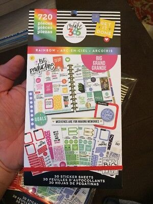 Create 365  The Big Happy Planner  Rainbow Value Pack Stickers 720 New