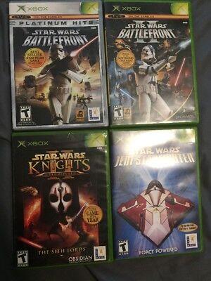 🔥Star Wars Xbox One Compatible Game LOT Battlefront I & II, KOTOR II, Jedi Star