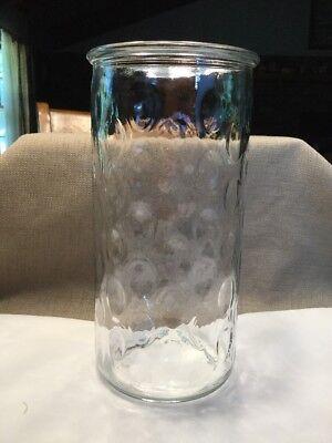 """9 3/4"""" THUMBPRINT GLASS UTENSIL HOLDER JAR -"""