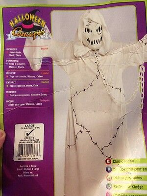 Cool Ghoul Costume, Ghost Boy- Girl Large Size 12-14 Rubie's](Ghostly Ghoul Costume)