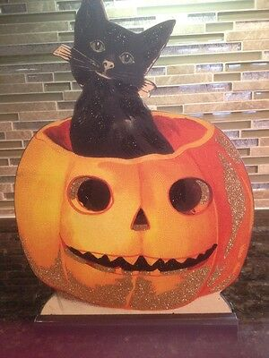 Stand-up Jack & Black Cat--Annie Schickel Primitives By Kathy not Bethany Lowe