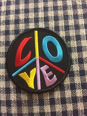 Peace and Unity  Rainbow Iron on Embroidered Patch